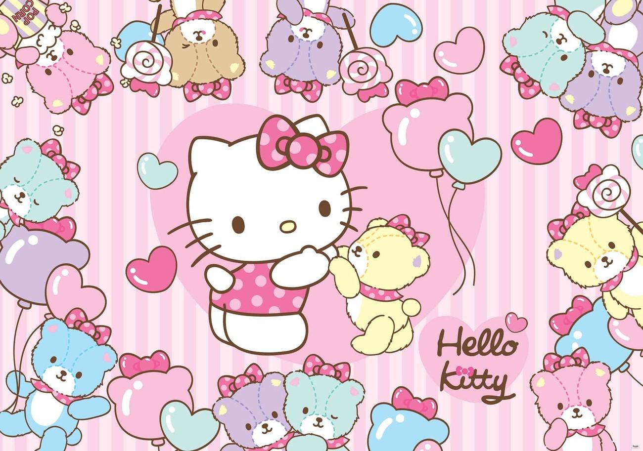 Wellness gutschein comic  Fototapete, Tapete Hello Kitty bei EuroPosters