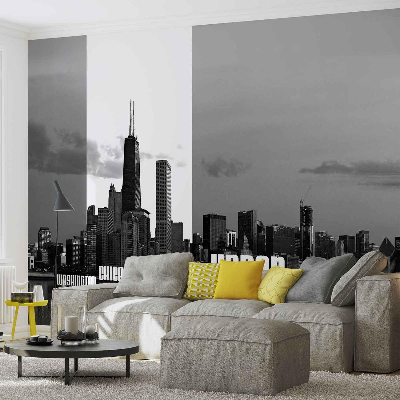 fototapete tapete st dte skyline bei europosters. Black Bedroom Furniture Sets. Home Design Ideas