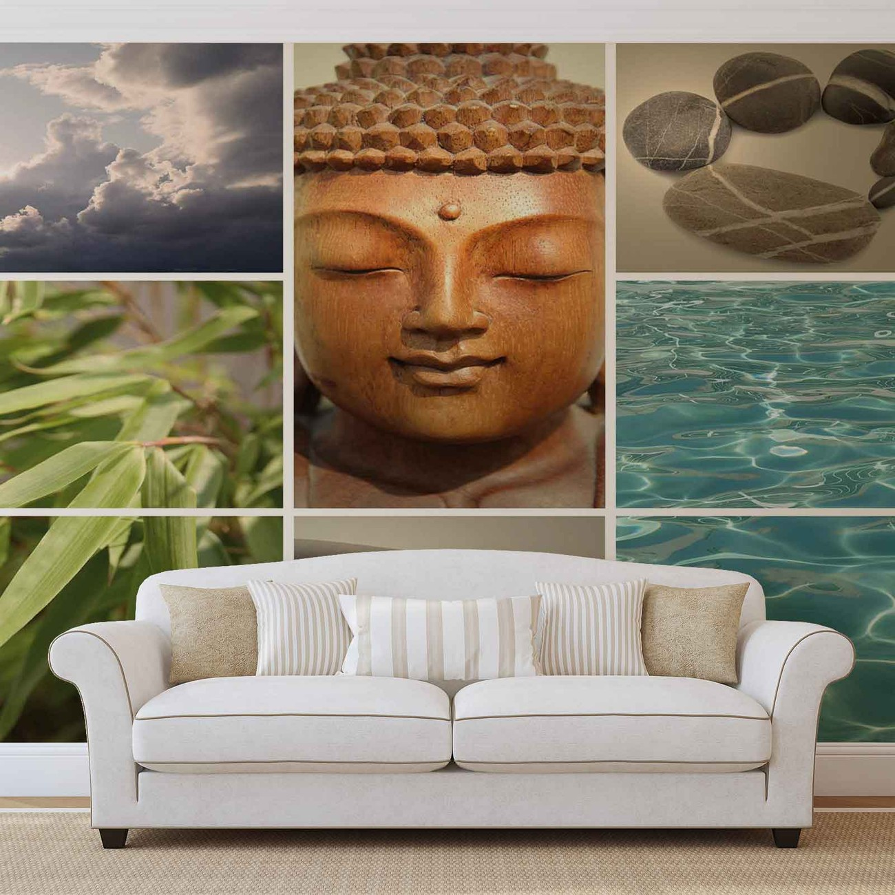 Sc ne relaxante zen poster mural papier peint acheter for Poster xxl mural zen