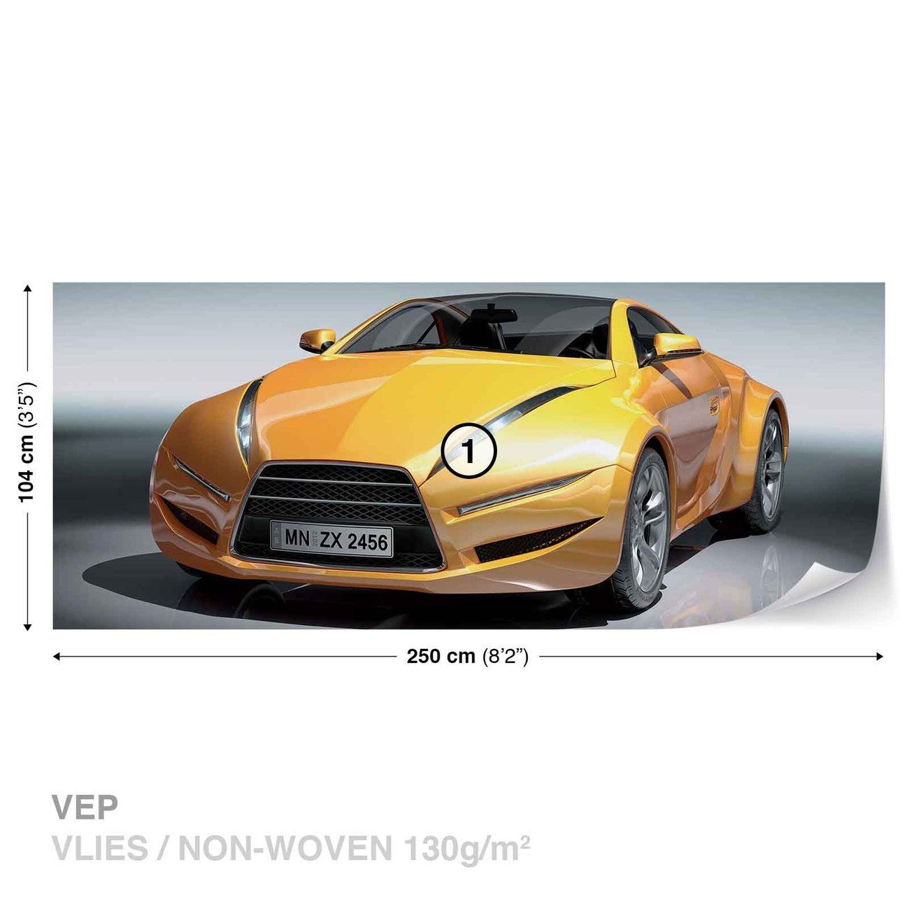 voiture de course sportive poster mural papier peint acheter le sur. Black Bedroom Furniture Sets. Home Design Ideas