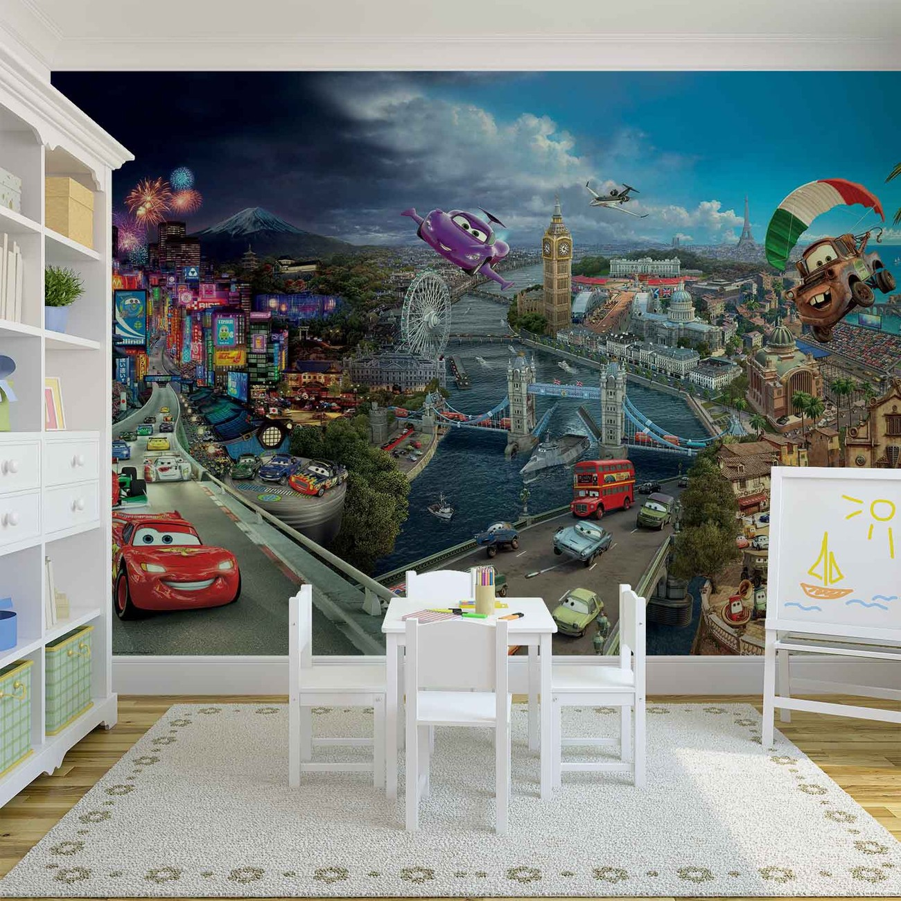 fotomurale disney cars rayo mcqueen bernoulli papel. Black Bedroom Furniture Sets. Home Design Ideas