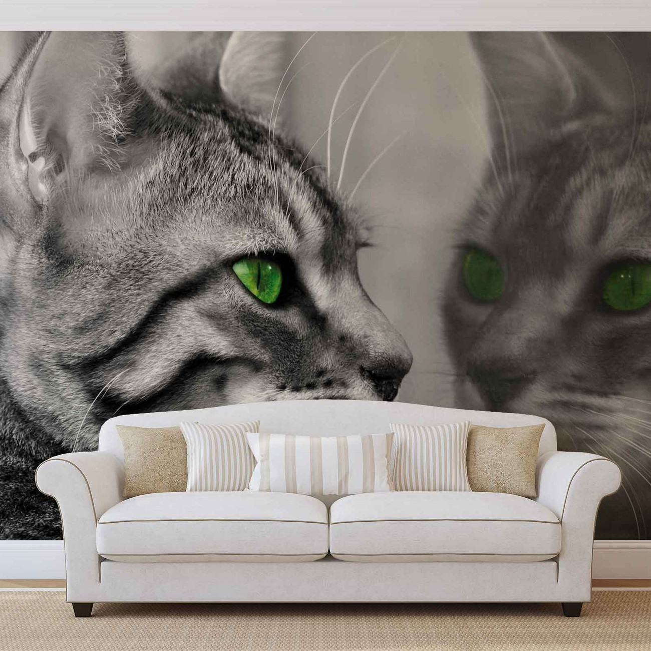 chat chatons poster mural papier peint acheter le sur. Black Bedroom Furniture Sets. Home Design Ideas