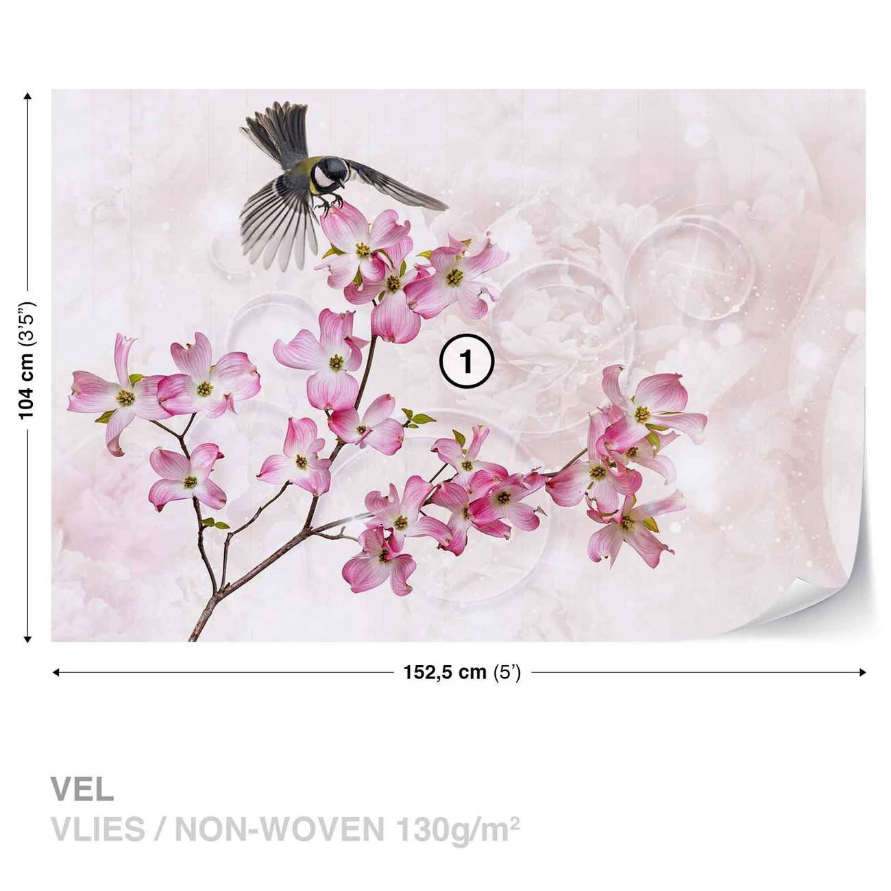 fleurs oiseau poster mural papier peint acheter le sur. Black Bedroom Furniture Sets. Home Design Ideas