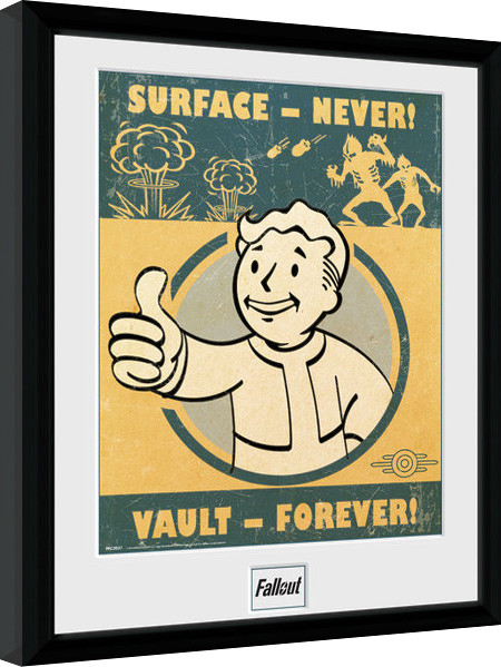 Fallout 4 vault forever poster encadr tableau mural for Fallout 4 mural