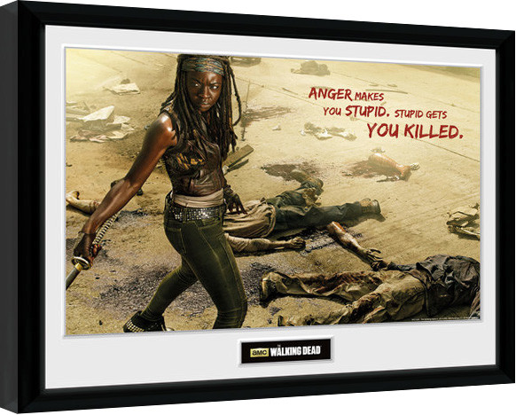 the walking dead michonne kill gerahmte poster bilder. Black Bedroom Furniture Sets. Home Design Ideas