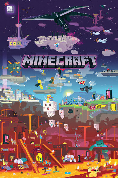 Minecraft world beyond p ster l mina compra en - Minecraft bilder ...