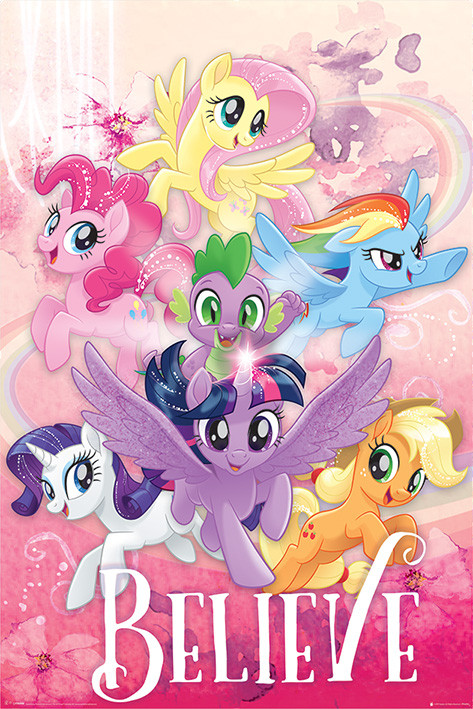 poster quadro my little pony movie believe su