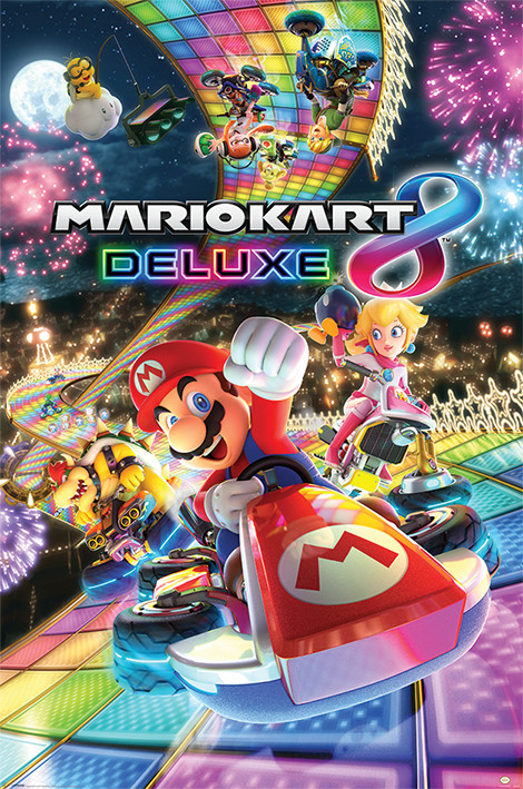 mario kart 8 deluxe poster affiche acheter le sur. Black Bedroom Furniture Sets. Home Design Ideas