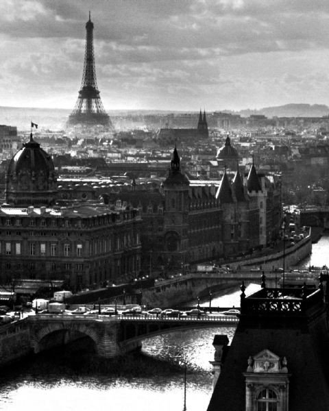 paris river poster affiche acheter le sur. Black Bedroom Furniture Sets. Home Design Ideas
