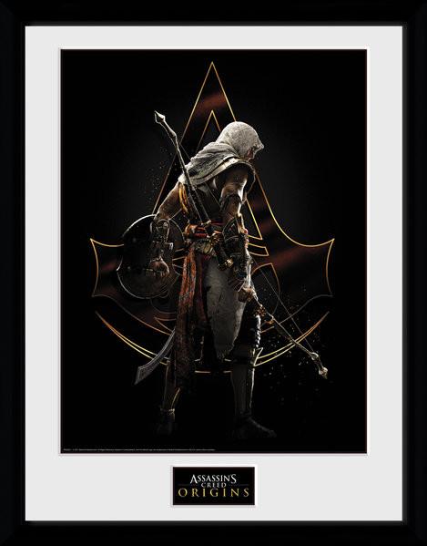 assassins creed origins assassin gerahmte poster. Black Bedroom Furniture Sets. Home Design Ideas