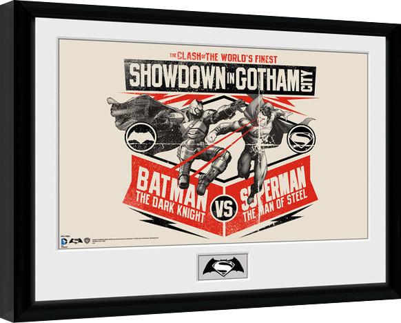 batman vs superman battle gerahmte poster bilder kaufen bei europosters. Black Bedroom Furniture Sets. Home Design Ideas