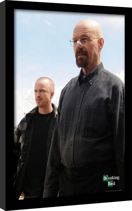 breaking bad walter jesse gerahmte poster bilder kaufen bei europosters. Black Bedroom Furniture Sets. Home Design Ideas