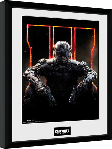 call of duty black ops 3 cover gerahmte poster bilder kaufen bei europosters. Black Bedroom Furniture Sets. Home Design Ideas