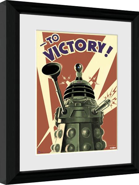doctor who victory gerahmte poster bilder kaufen bei. Black Bedroom Furniture Sets. Home Design Ideas
