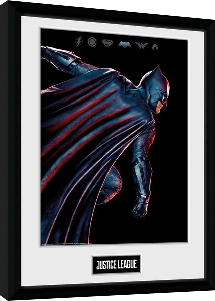 gerechtigkeitsliga movie batman gerahmte poster bilder kaufen bei europosters. Black Bedroom Furniture Sets. Home Design Ideas