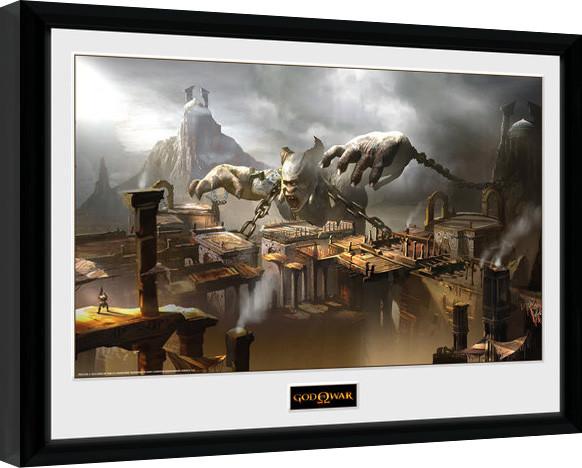 god of war concept art canyon gerahmte poster bilder kaufen bei europosters. Black Bedroom Furniture Sets. Home Design Ideas
