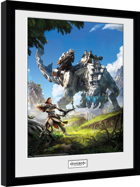 horizon zero dawn key art gerahmte poster bilder kaufen bei europosters. Black Bedroom Furniture Sets. Home Design Ideas