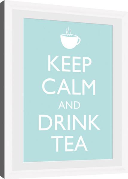 keep calm tea white gerahmte poster bilder kaufen bei europosters. Black Bedroom Furniture Sets. Home Design Ideas