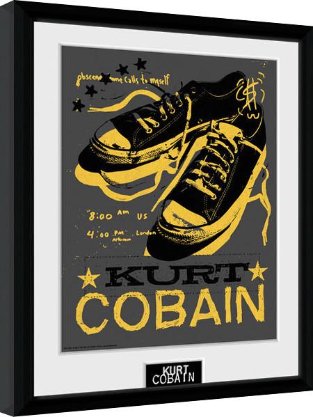 kurt cobain shoes gerahmte poster bilder kaufen bei europosters. Black Bedroom Furniture Sets. Home Design Ideas