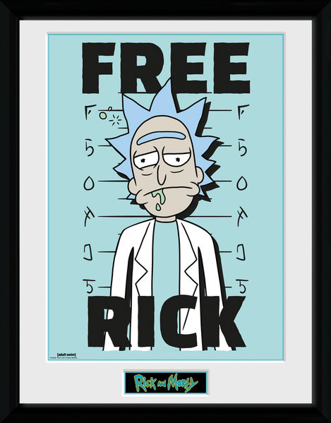 rick and morty free rick gerahmte poster bilder kaufen bei europosters. Black Bedroom Furniture Sets. Home Design Ideas