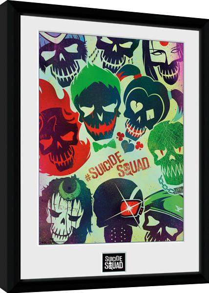 suicide squad skulls gerahmte poster bilder kaufen bei europosters. Black Bedroom Furniture Sets. Home Design Ideas