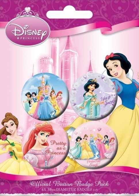 DISNEY PRINSESSEN button