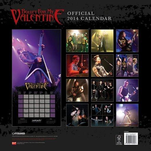 calendario 2019 calendar 2014 bullet for my valentine