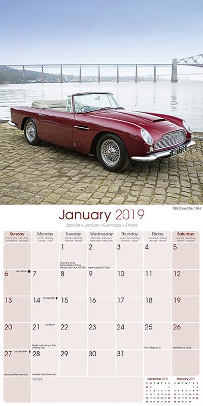 Aston Martin - Calendarios 2019