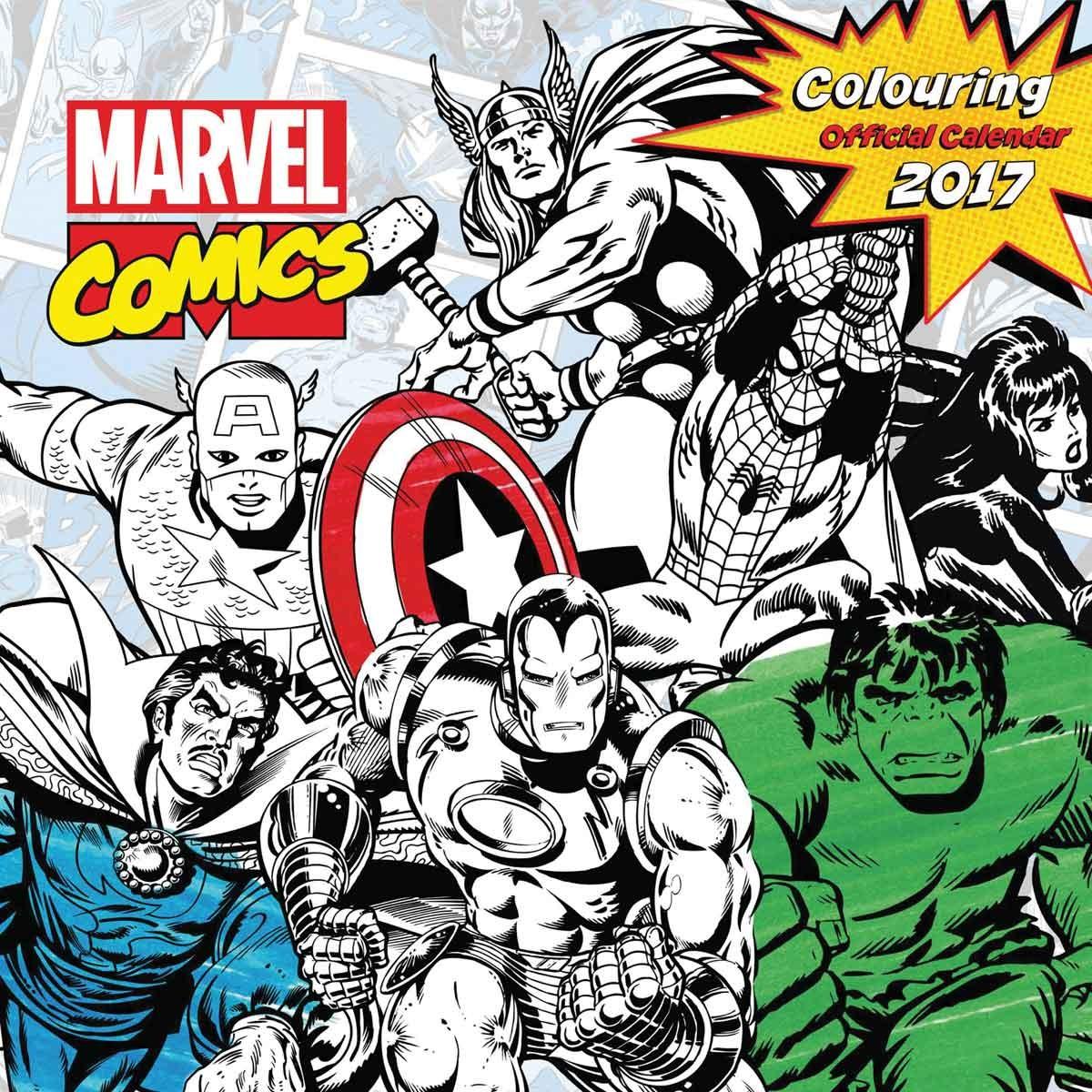 Marvel comics - Calendarios 2018