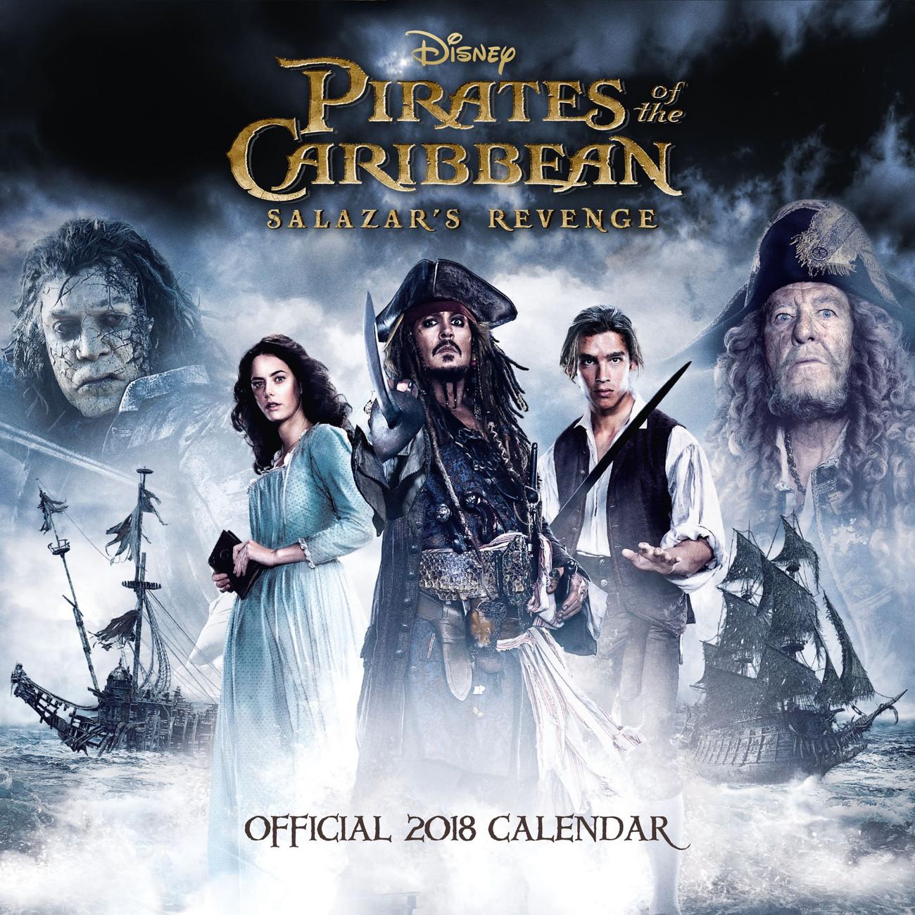 Piratas del Caribe - Calendarios 2018