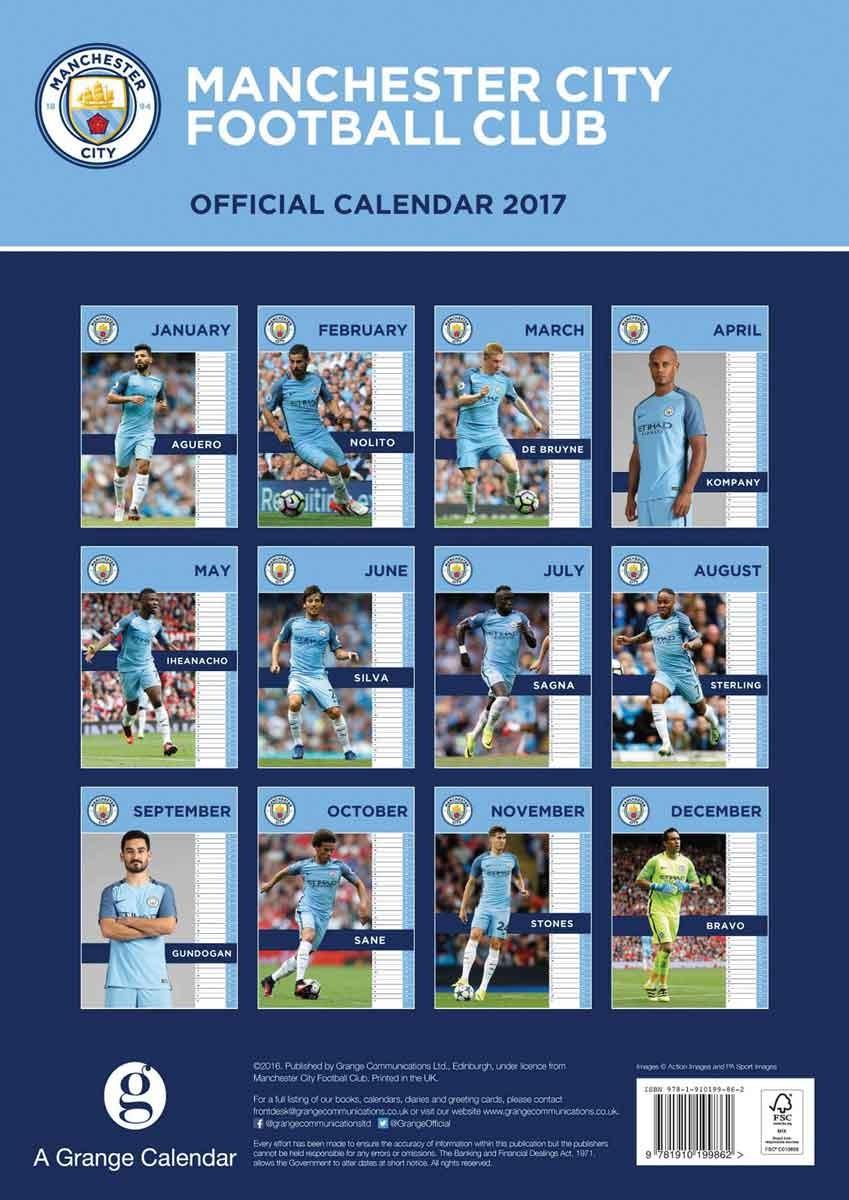 Calendrier City.Manchester City Calendrier 2020