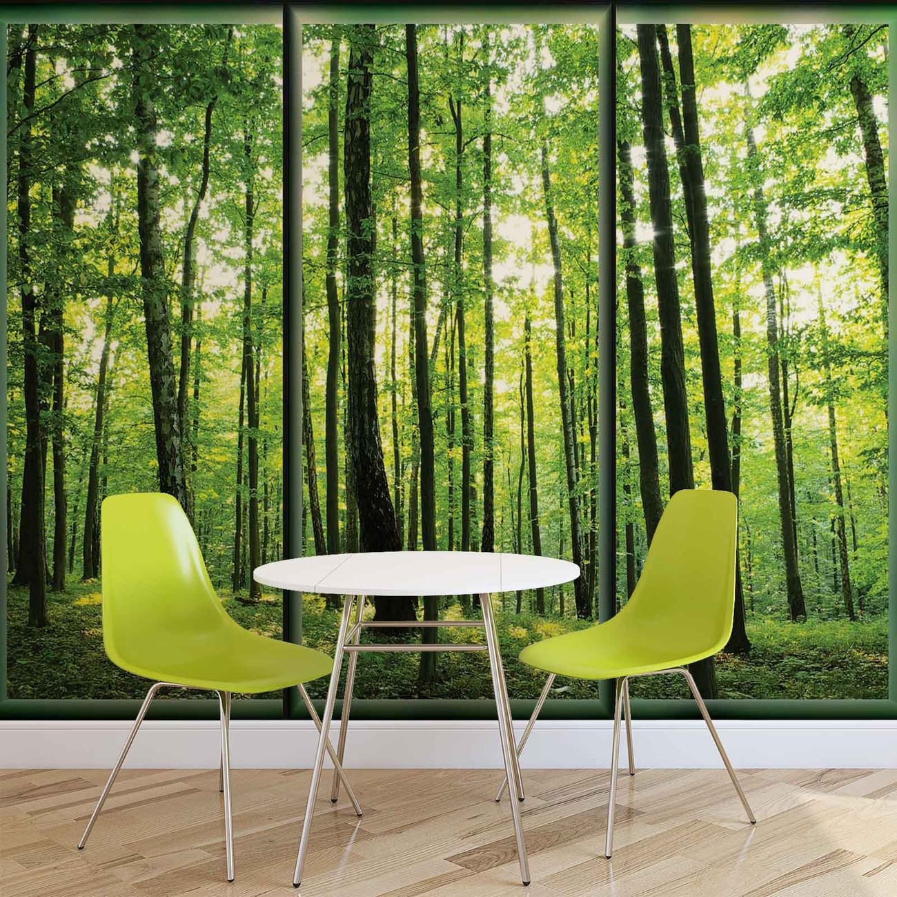 Carta da parati alberi foresta verde natura for Carta da parati alberi stilizzati