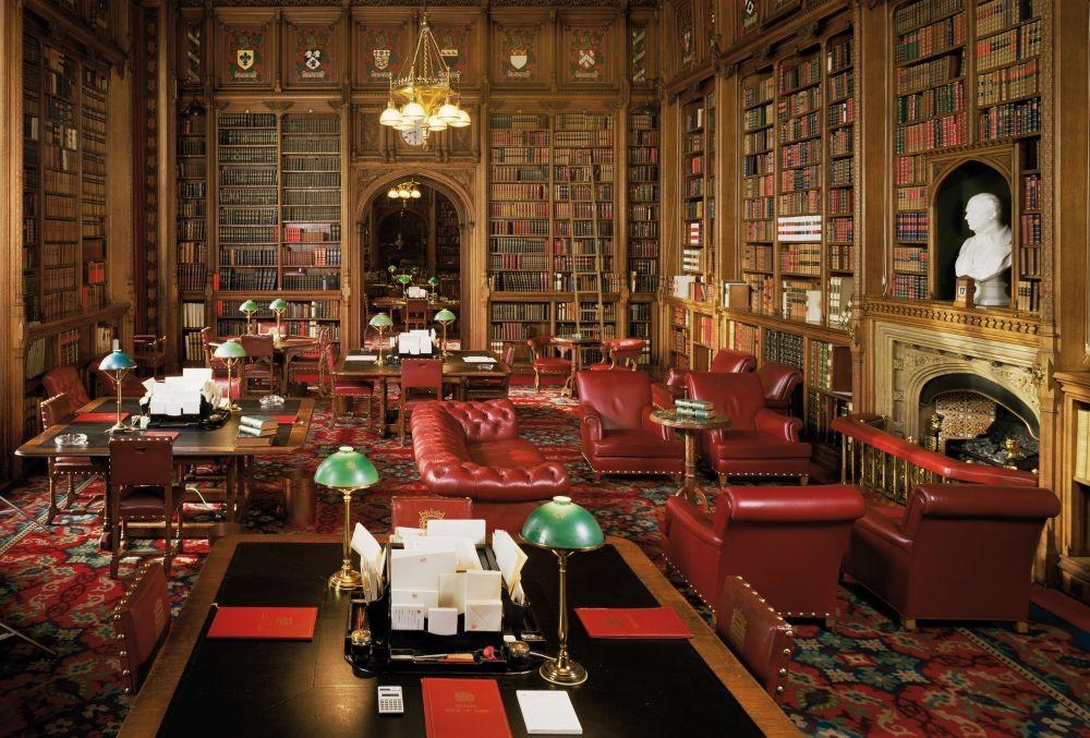 Carta da parati biblioteca house of lords for Carta da parati libreria