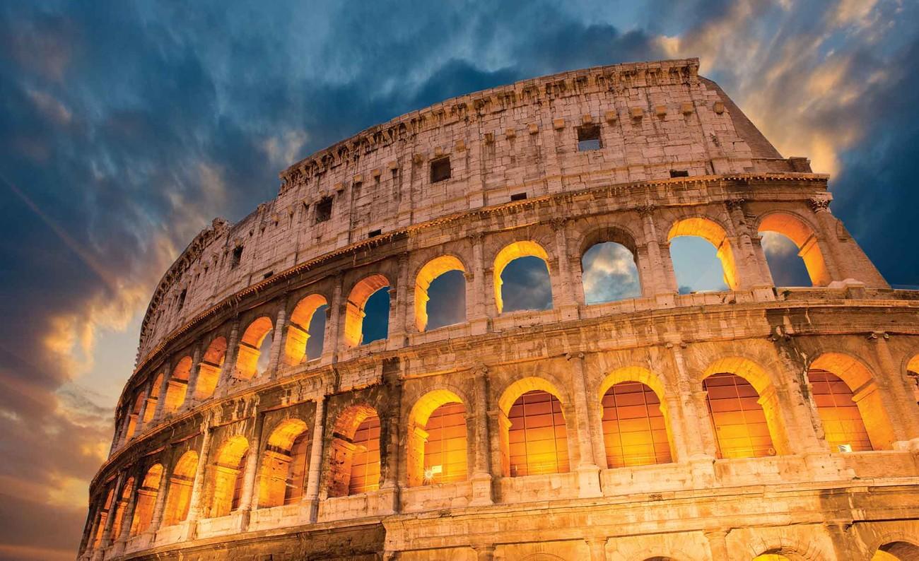 Carta Da Parati Pois Roma : Carta da parati colosseo città tramonto europosters
