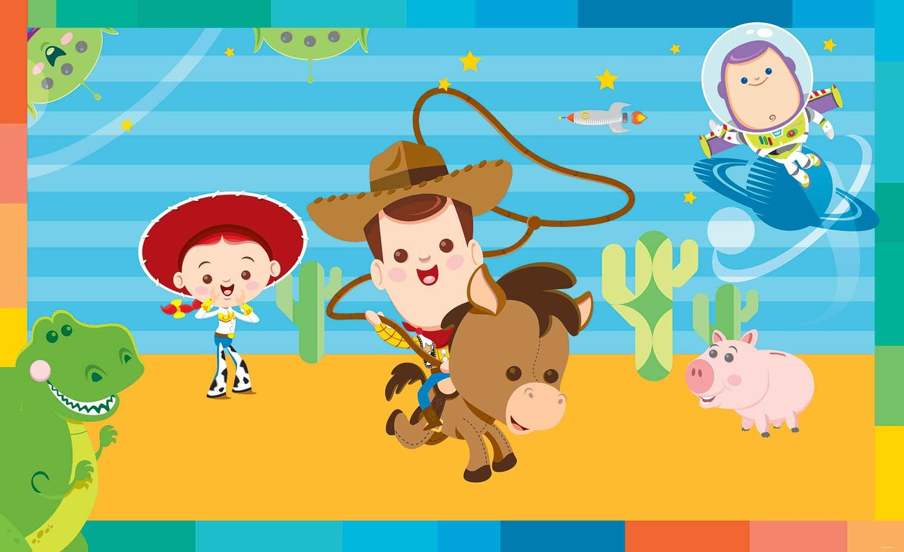 Carta da parati disney baby toy story for Carta parati disney