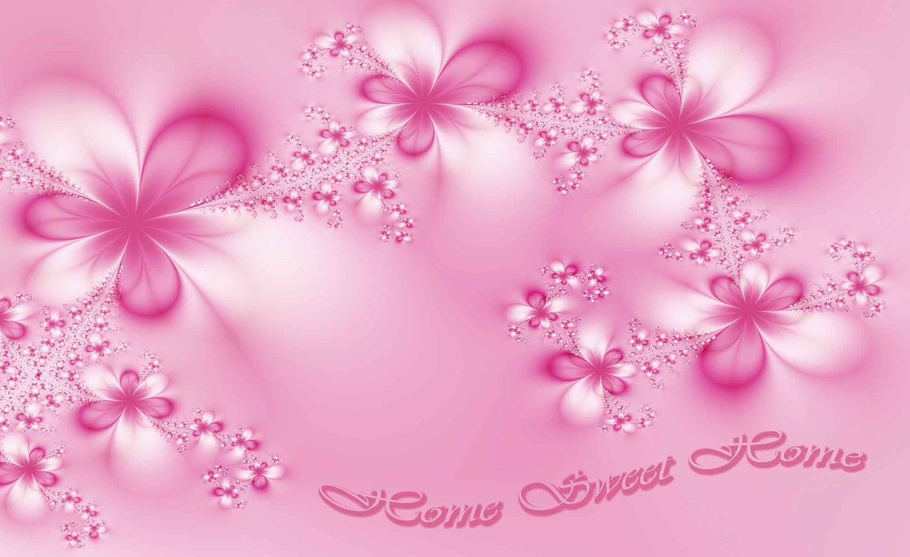 Carta da parati fiori casa rosa for Carta da parati fiori grandi