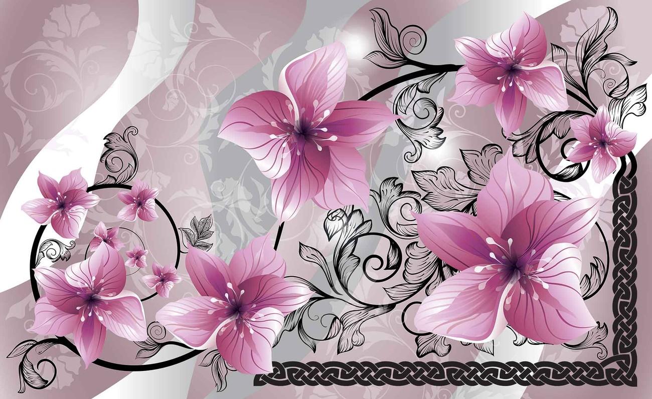Carta Da Parati A Fiori Cotone: Carta Da Parati - Fiori Motivo Floreale