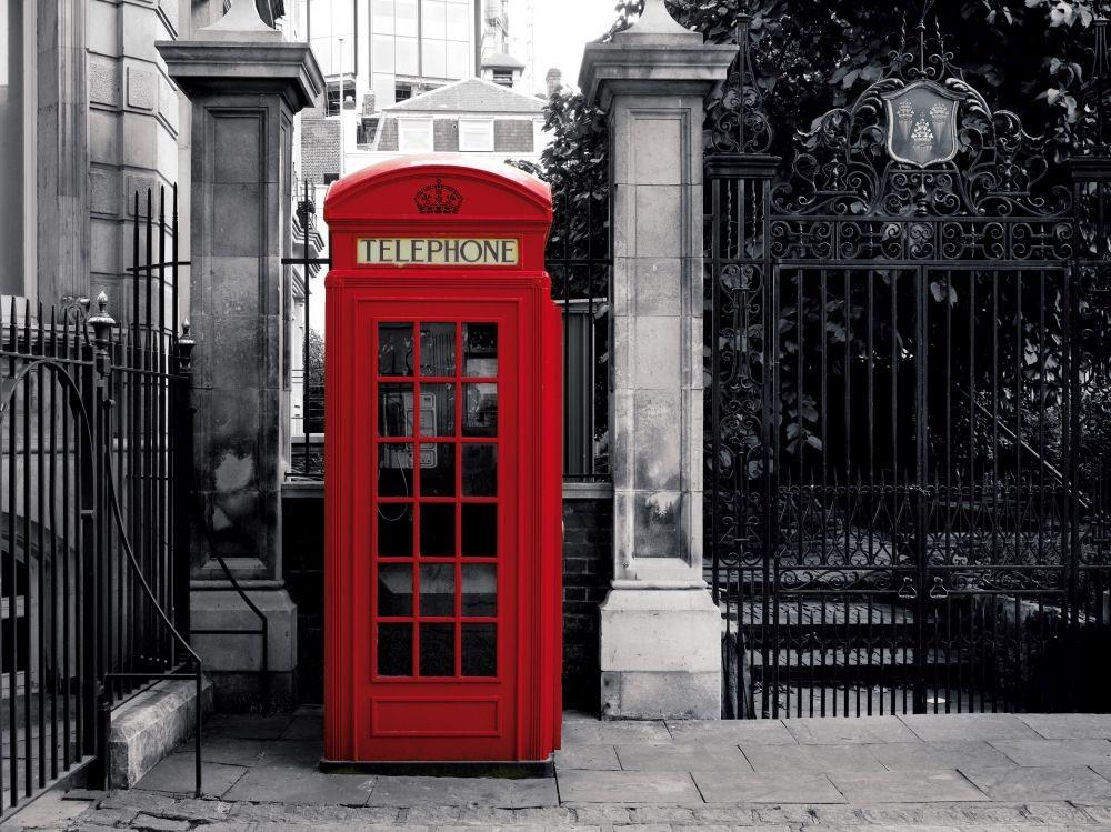 Cabina Telefonica : Carta da parati londra la cabina telefonica rossa europosters.it