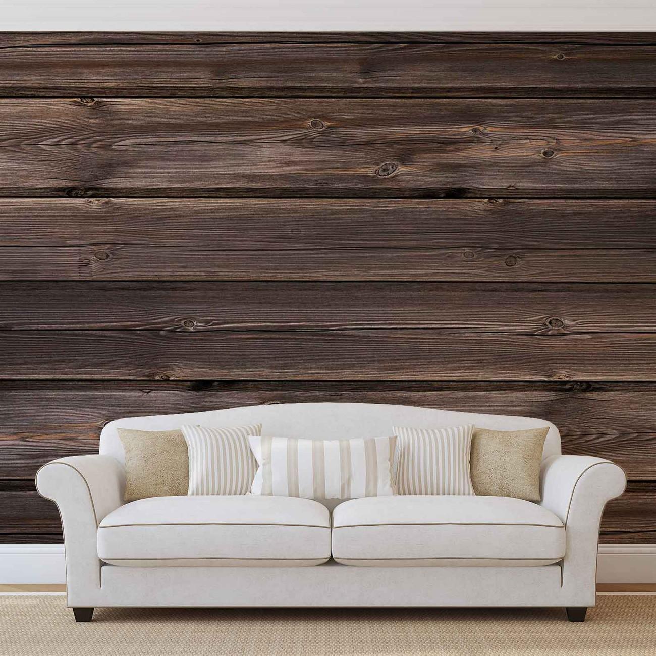 Carta da parati motivo legno marrone for Carta da parati tipo legno
