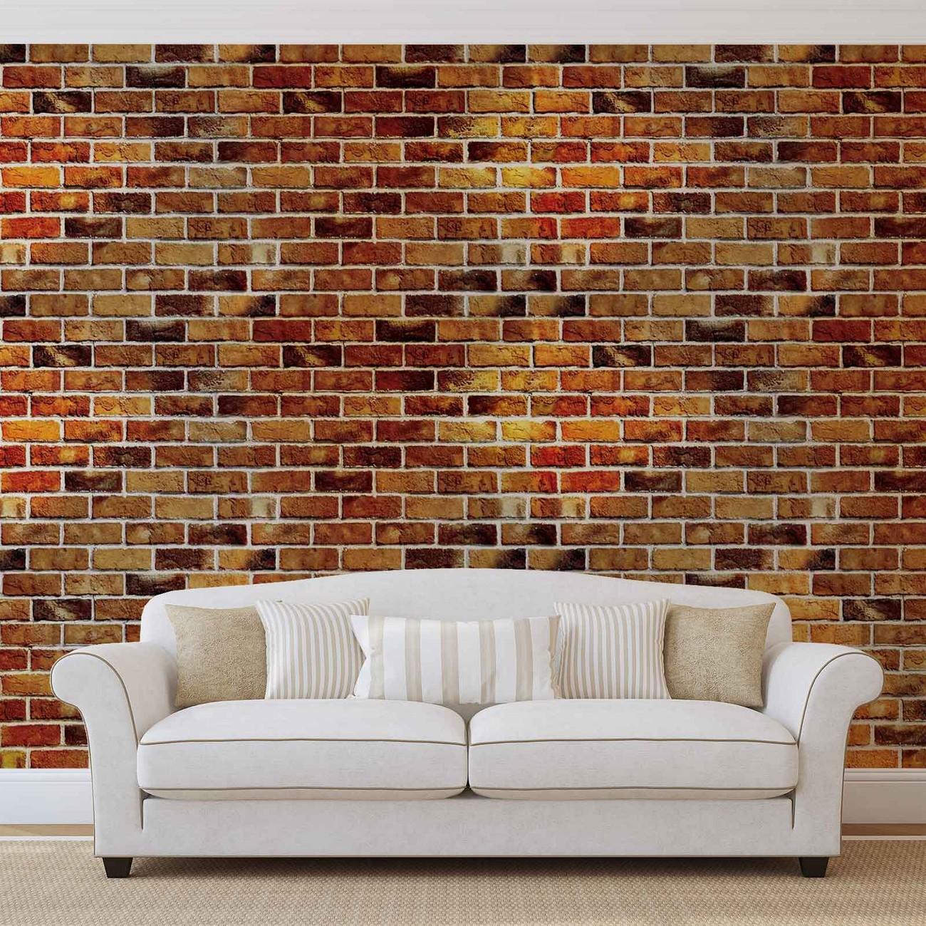 Carta da parati muro di mattoni for Carta da parati 3d mattoni