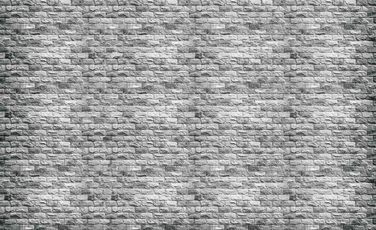 Carta da parati muro mattoni grigio for Carta da parati bar