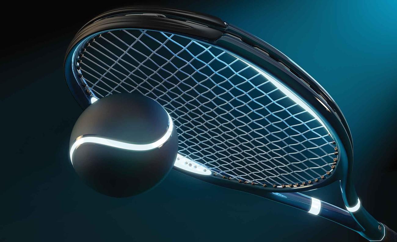 Carta da parati racchetta tennis pallina e luce neon for Prezzo carta parati