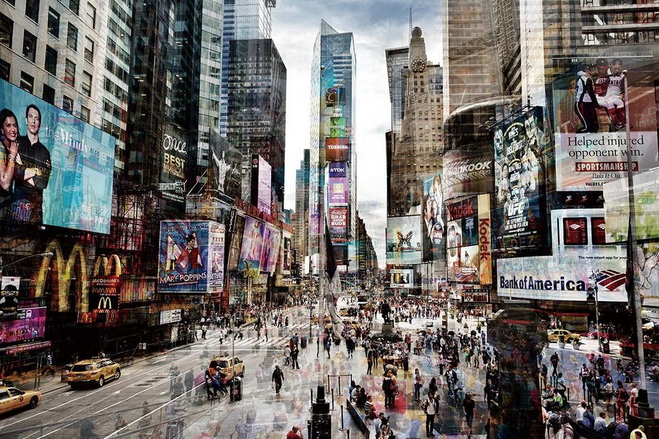 Cuadro en vidrio New York - Times Square