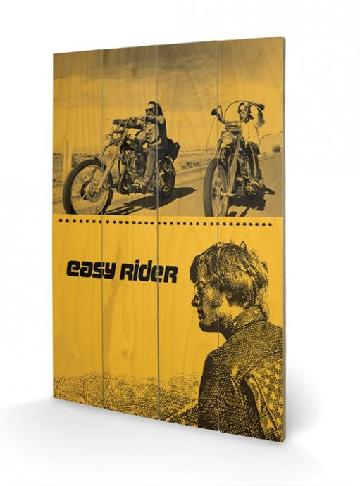 bild auf holz easy rider split bei europosters. Black Bedroom Furniture Sets. Home Design Ideas