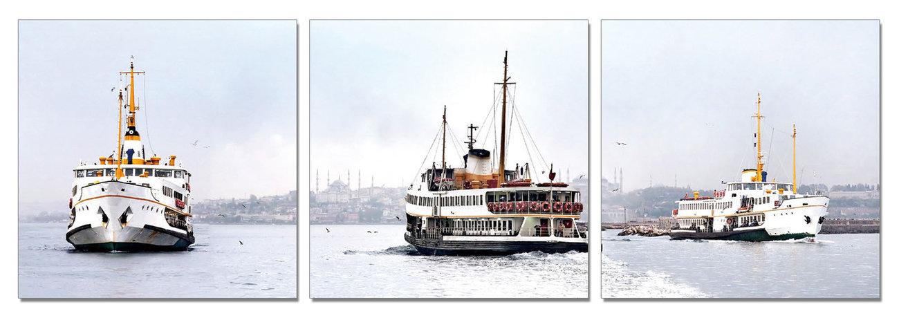 Busy Life at the Sea Modern kép