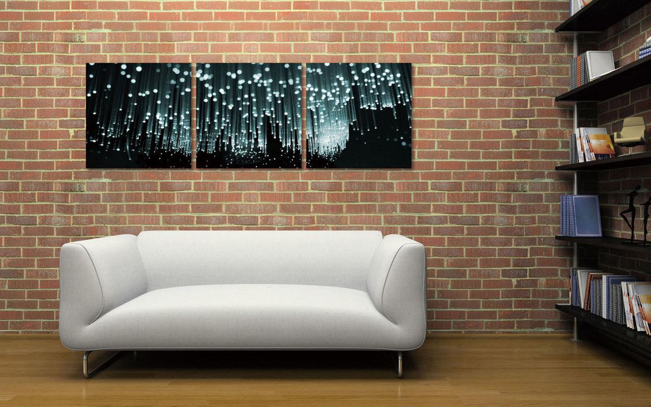 Modern Design - White Rain modern festmény