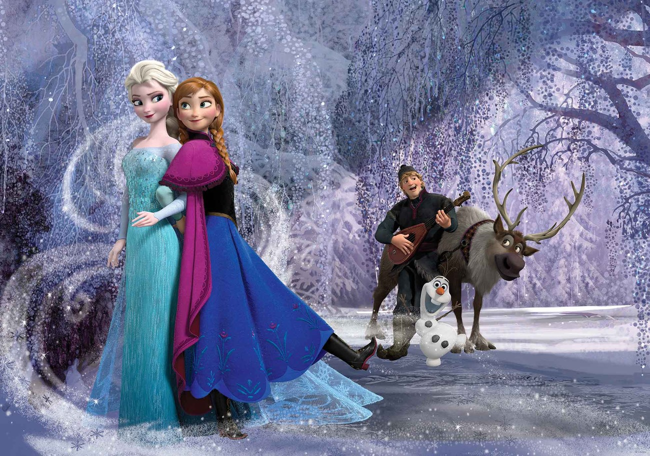 Disney Frozen Slaapkamer : Disney frozen elsa anna fotobehang behang bestel nu op