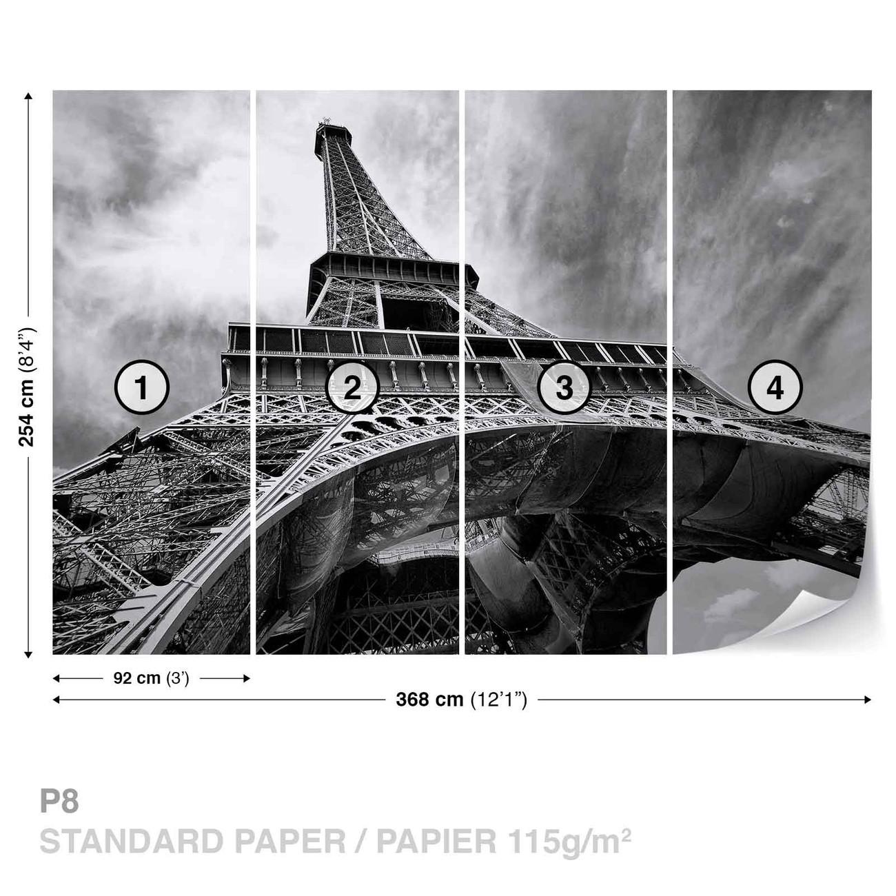 Paris Eiffel Tower Black White Fotobehang Behang Bestel Nu Op