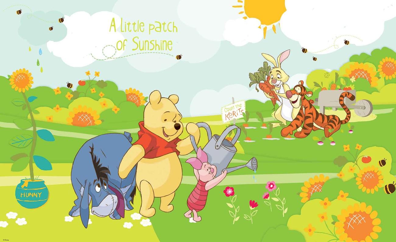 Fotomurale Disney Winnie Pooh Eeyore Piglet Tigger, Papel pintado ...