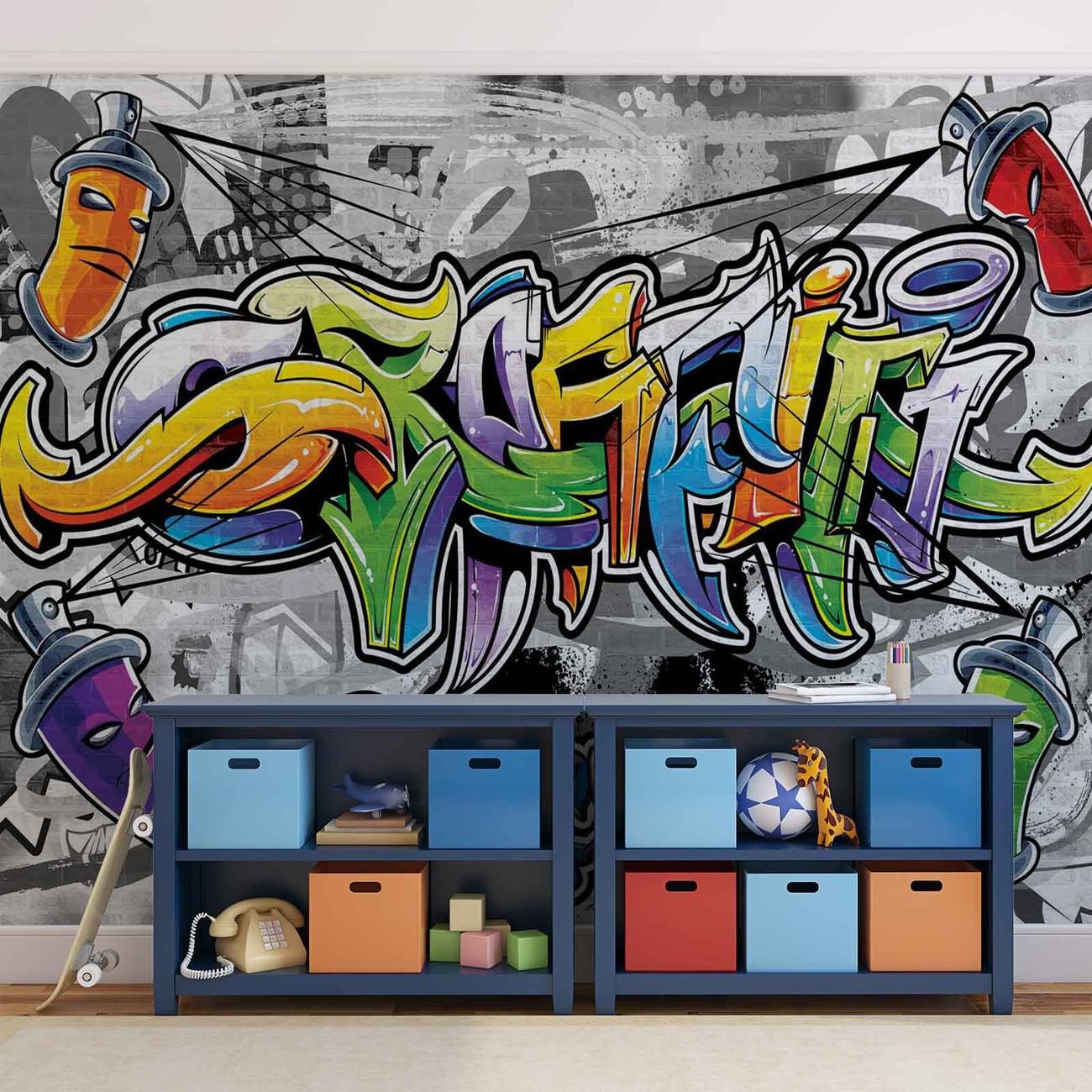 Fotomurale graffiti arte callejero papel pintado for Graffiti jugendzimmer